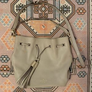 KATE SPADE PURSE BAG BEIGE LEATHER